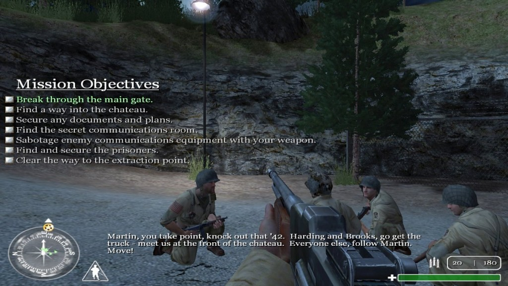Die Missionen sind klar strukturiert. Jeder bekommt eine Aufgabe vom Commander.