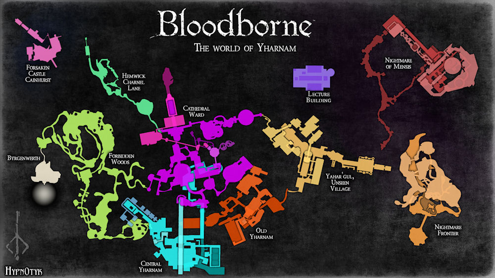 Bloodborne Karte Map